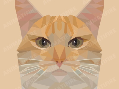 Polygon Cat adobe portrait low poly art low polygon low poly illustration design polygon art adobe photoshop adobe illustrator graphic design