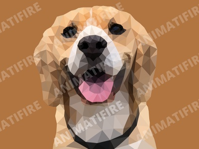 polygon dog graphic design graphic art graphic design adobe illustrator adobe portrait polygon art low poly art adobe photoshop