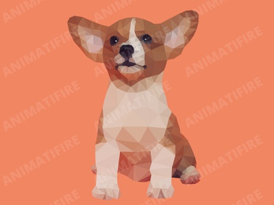 polygon dog low poly low polygon portrait art vector portrait portrait art low poly portrait polygon portrait low polygon low poly art portrait graphic designer animatifire design graphic design adobe illustrator adobe adobe photoshop