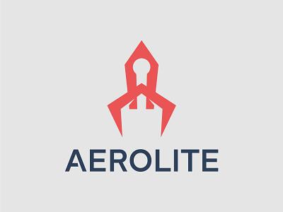 Aerolite Logo Design illustrator typography vector minimal logo illustration icon flat design branding app