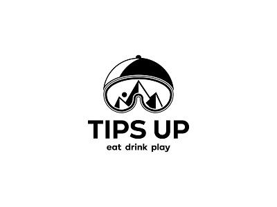 Tips Up Logo art vector minimal logo illustrator illustration flat icon design branding