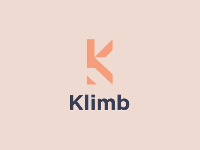 Klimb logo concept app vector minimal logo illustrator illustration icon flat design branding