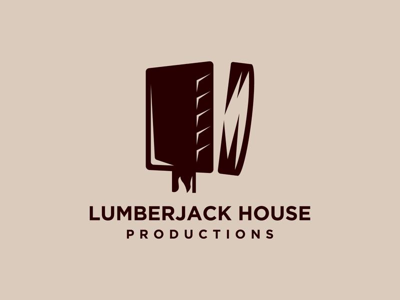 Lumberjack house productions logo concept app vector minimal logo illustrator flat illustration icon design branding