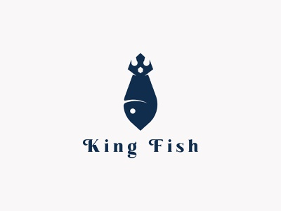 King fish logo concept art vector minimal logo illustrator illustration icon flat design branding