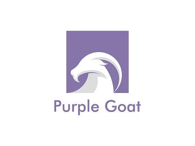 Purple goat logo concept vector graphic design minimal logo illustrator illustration icon flat design branding