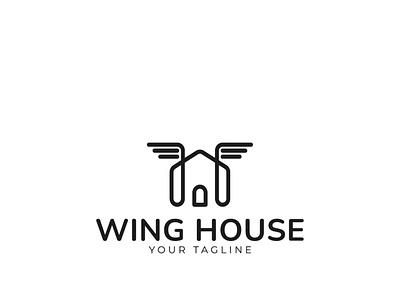 Wing House Logo animation motion graphics app illustration design de branding logo graphic design