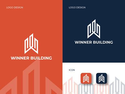 Letter W Building Logo logo graphic design design branding app
