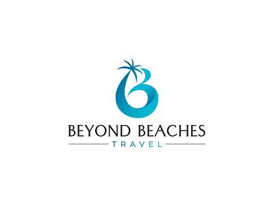 Beyond Beaches Travel Logo vector illustration logo graphic design design branding