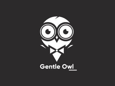 Owl Logo / Gentle owl art illustrator minimal icon vector illustration logo design logodesign design owl illustration owl logo owls logo owl