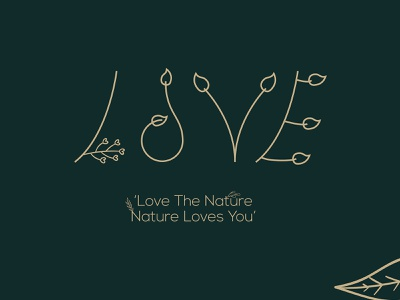 love nature illustration logo design branding illustrator logo design logos graphic design minimalist logo minimalist minimal logo design nature logo illustration nature love