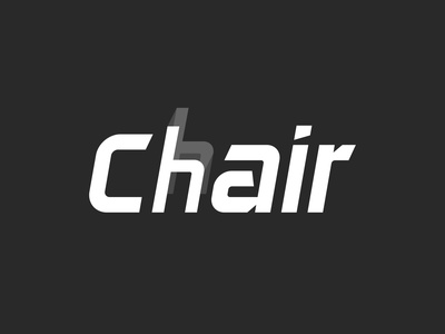 Chair wordmark wordmark chair logo designer photoshop illustrator illustration icon graphic design minimal logo design logo design
