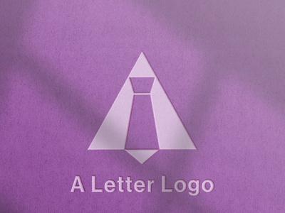 A letter logo ( A + tie ) photoshop logo designer logos illustrator illustration icon graphic design minimal logo design design logo letter a