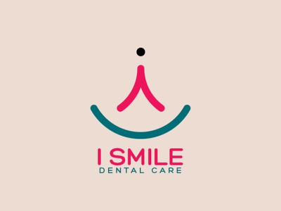 I smile dental care logo design logodesign photoshop creative logo designer logos illustrator illustration icon graphic design minimal logo design design logo