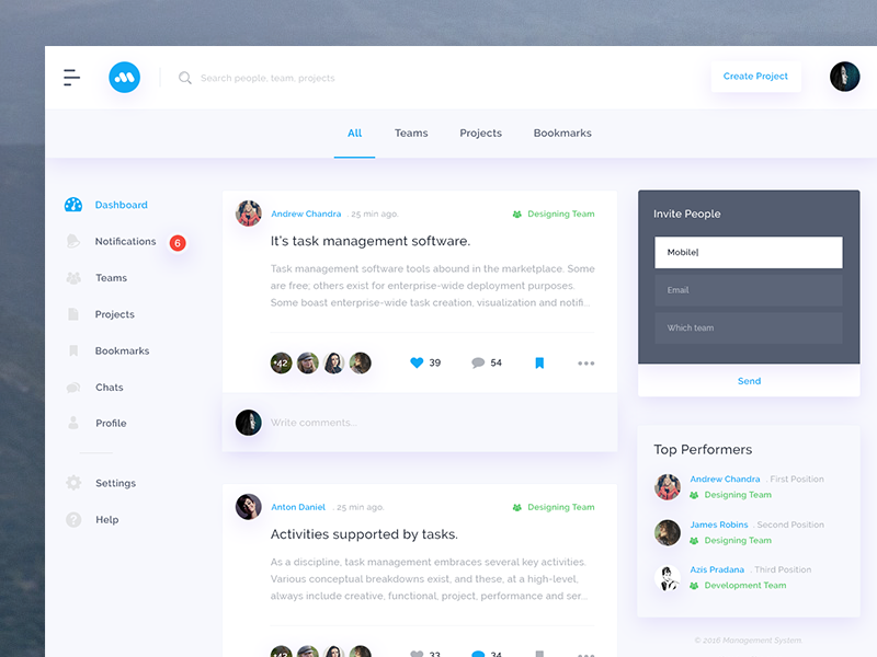 Task Managing Ui By Mandeep Kundu Dribbble Dribbble