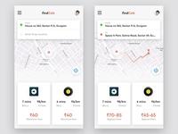 Cab booking app.