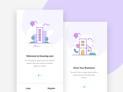 Onboarding Screens new ios app agent ux ui sign package update onboarding illustration