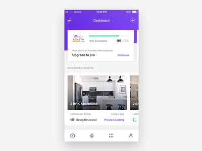 Agent Dashboard housing new ios house agent ux ui package cards minimal flat dashboard