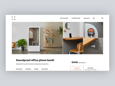 Dedicated Page - Redesign Concept For Room website webdesign web visual uidesign ui style layout landing page lander interface homepage explore experience design colors