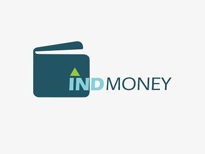 IND Money vector typography minimal design ui ux logo branding brand identity designer brand identity