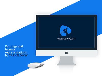 Cashfloww Logo Design ui designer packaging designer flat vector minimal web logo branding brand identity designer brand identity