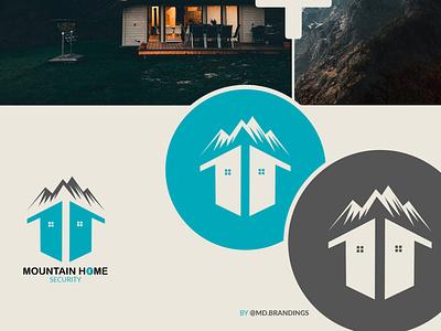Mountain Home Security web designer design ui minimal web logo packaging designer branding brand identity designer brand identity
