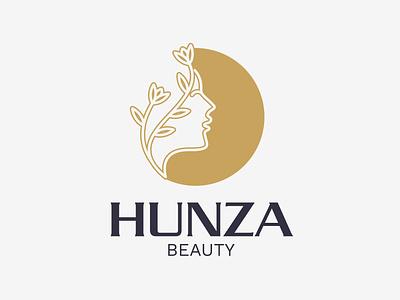 Hunza Beauty logo logo design beauy logo graphic designers graphic designer logo designers club logo designer branding brand identity designer brand identity