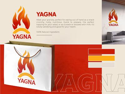 Yagna Branding logo designer graphic designer icon minimal logo branding brand identity designer brand identity