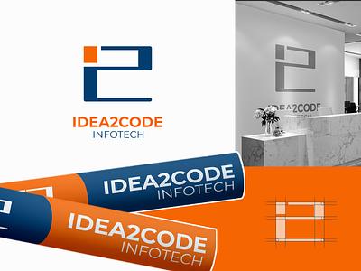 I2C Infotech Logo logo designer logo design illustration minimal logo branding brand identity designer brand identity