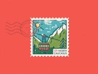 North Caucasus postage stamp sticker