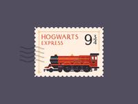 Hogwarts Express stamp