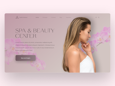 SPA & Beauty center concept beauty salon ui web design spa