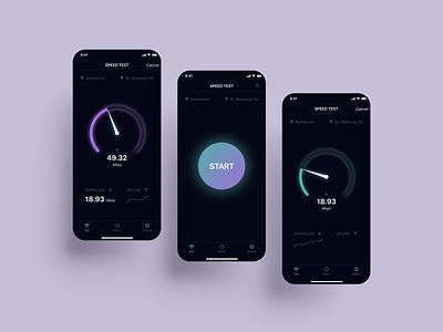 Speed test app app design figma ui uiux application app speedtestapp speedtest