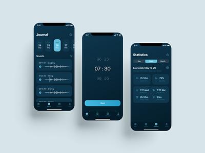 Sleep control app sleepapp design application app design app uiux figma