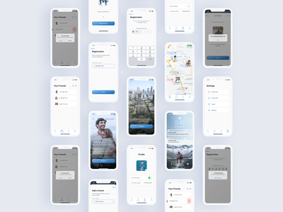Find My Friends Location GPS app gps find friend location design application app design app uiux ui figma