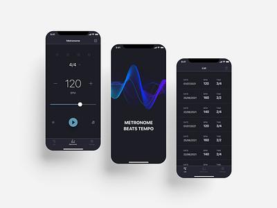 Metronome app metronome metronome app application app design app uiux ui figma