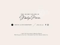 SCD of Marilyn Monroe | Website Design | Footer