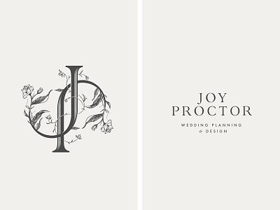 JP Monogram | WordMark floral botanical romatnic wordmark p j monogram