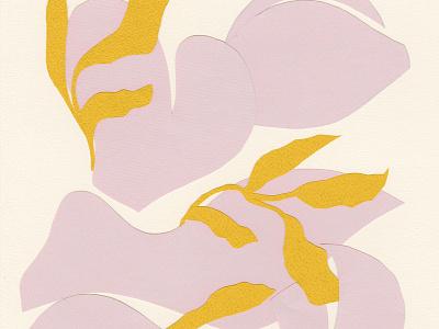 Marigold Artwork yellow branches marigold blush collage