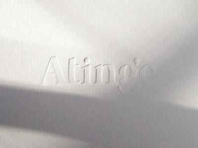 Atinge white emboss blind font custom