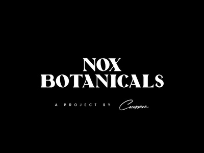 Nox Botanicals Custom Wordmark heavy serif font custom night botanicals nox