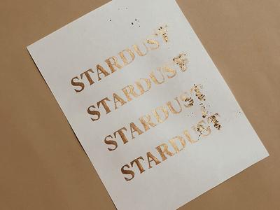 Stardust font golden dust star