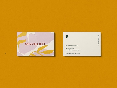 Marigold Business Cards body leaf yellow cards business marigold
