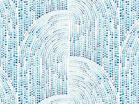 Watercolour waves & dots