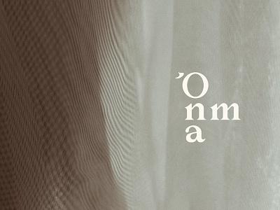 Onma Custom Wordmark soft warm cosy custom typeface font serif subtle