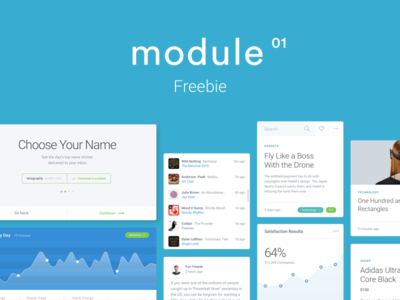 Module UI Kit Freebie