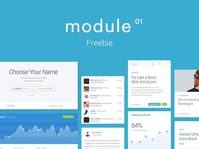 Module UI Kit Freebie free ui kit freebie