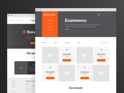 Free Sample - Basement Wireframe Kit: Corporate & Ecommerce ecommerce corporate base ui kit wireframe free