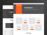 Free Sample - Basement Wireframe Kit: Corporate & Ecommerce