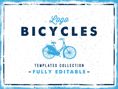 Bicycles Logo Collection logo label bike bicycle emblem vector texture