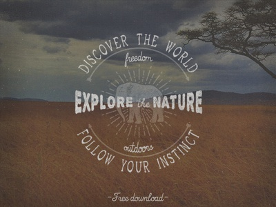 Explore the Nature Logo retro vintage logo free freebie download travel graphic template vector psd